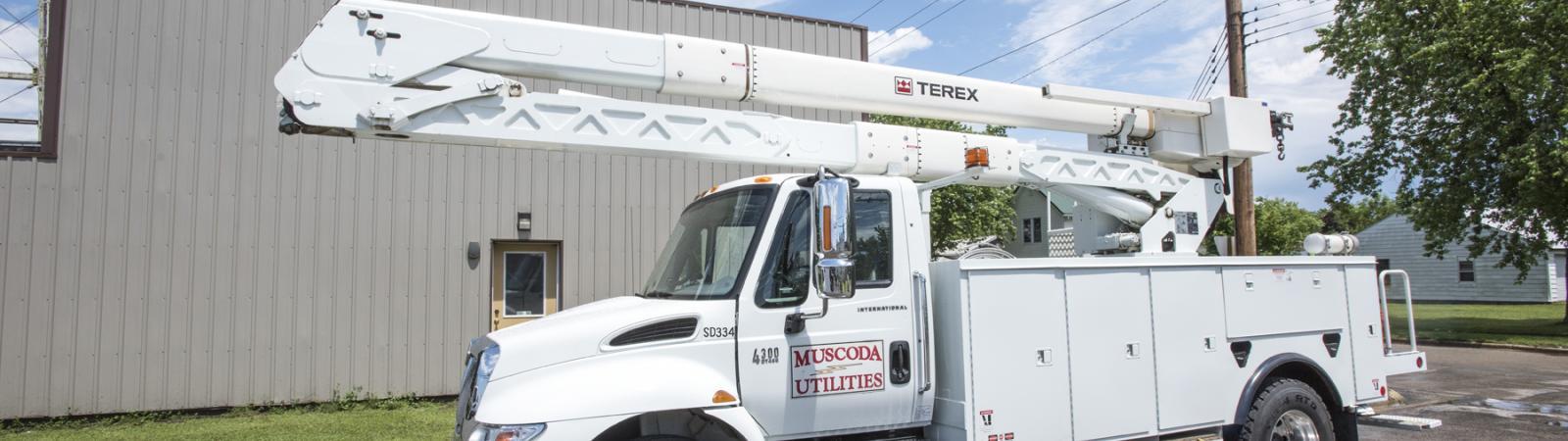 Muscoda utility truck